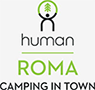 Human Roma Camping in Town